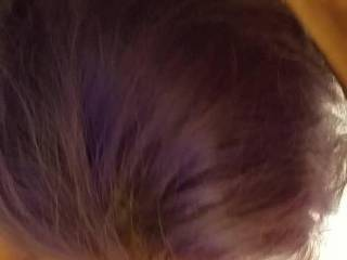 I love giving my hubby serious lip service. I especially love it when Antonio give me a weeks worth of his yummy spunk.Also he loved my anime purple hair. silky smooth soft long hair.. His hair is all sky blue.He does look damn hottie.