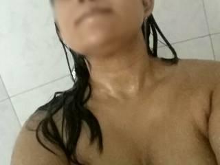 the hot shower after masturbation!