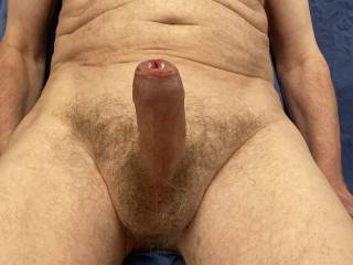 Perhaps you could my foreskin ease back o reveal my moist, swollen glans ready for you.