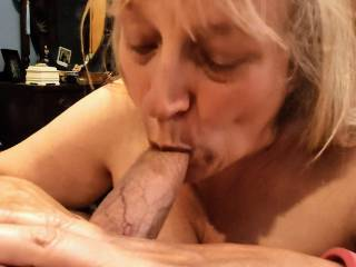 Just draining another cock. Can you tell I'm a 'real' cocksucker? I always try to swallow a cock completely. And I love swallowing cum! How about your cock, dear?