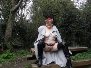 hi all just taking a little rest at the picnic table any one fancy a nibble? dirty comments welcome mature couple