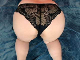 Moonglow in black lace
