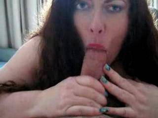 so exciting blow job and you have good material for that: a nice long cock for you only