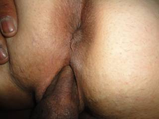 deep in her pussy