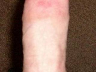 Another shot of my hard dick.  I sure would like to stick this dick in a nice tight female hole!