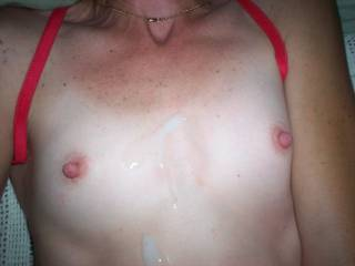 I could cum on those adorable little tits daily and never get tired of it . they're so sweet !