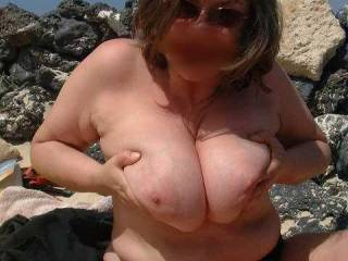I'd love to see a picture of the hard cock you have given me in between your lovely tits.