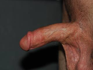 A very high quality picture of my dick semi hard,and my low hanging balls. How do you like it? What do you want to do to me?