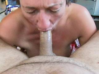 Damn! She can suck my cock & balls anytime! 10+++ on the BJ