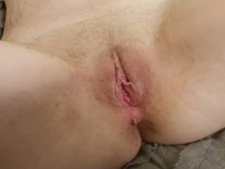her pussy after he filled her