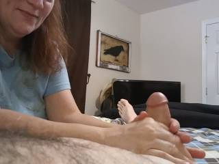 Nothing like a cock in your hands! Watch our video to see what happens. Want some, ladies?