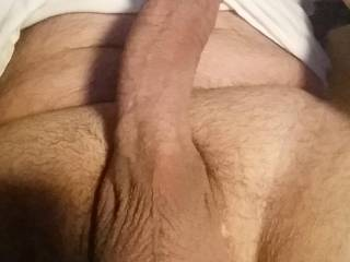 Just a pic I took for a friend that I think does a great job of showing off my cock and balls. What do you think?