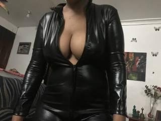 trying out my black slut dress