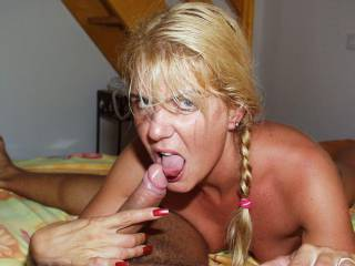 Coco loves licking cock and eye contact
