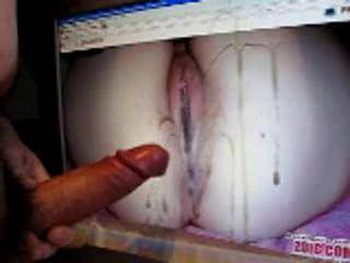 The pic of your pussy is so hot; it was very exciting jerking of on it. I shot my sperm all over your pussy. What a mess on my screen ! Please post some more pics !  Did you enjoy the video ? please let me know.