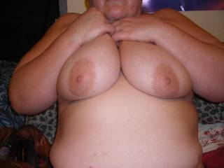 Just a pic of me holding my big boobies. :-)