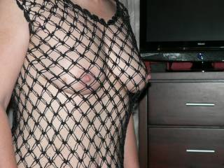 How do my tits look in this little string number?