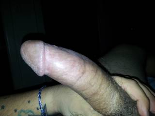 A pic I took of my man's big, beautiful cock. After a few minutes of me rubbing on it, he took it out and commanded me to shove it down my throat.
