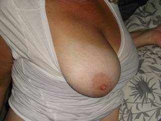 pulled the first one out, put my mouth on your wife... now im gonna reach in and pull out the other, while this huge cock throbs against my stomach