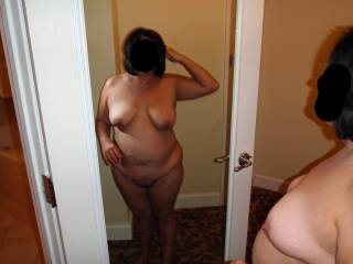 Weekend getaway at a luxury resort. Took a few nude pics before I told hubby to put down the camera and fuck me!