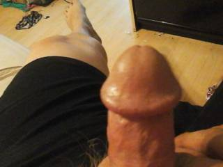 Me taking a pic of my cock