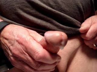 Lubing my cock for some jackoff fun.