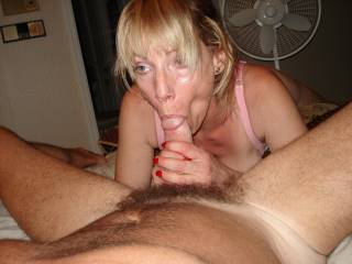 Lucky you, I see she licks to suck cock.