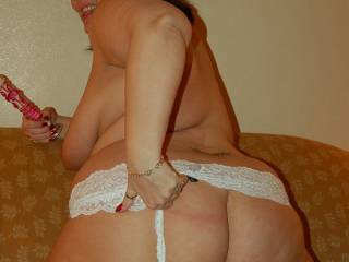 I wonder what Naughty V is going to do with that toy?  I think her big ass needs a good spanking