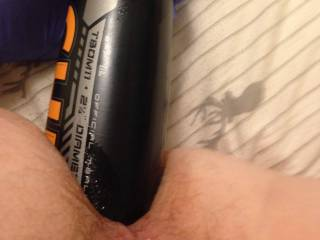 Stretching my ass for my wife to play with