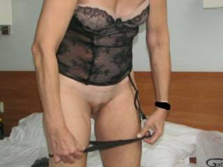 Oh yes, yes, yessssssssss, another excellent panties down around her legs pic, I love it!