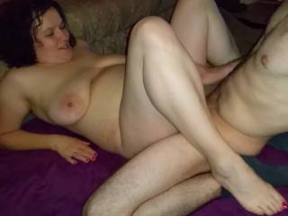 Nadja cheats and fucks with this guy without a condom. She is so horny for his fat cock that she pushes him in again and again.