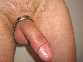 That is a great looking cock. Love your shaved balls and the cockring.