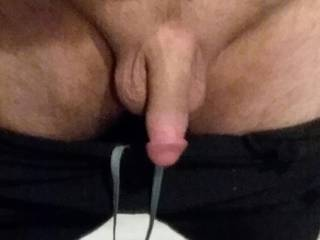 My cock soft after shower at the gym