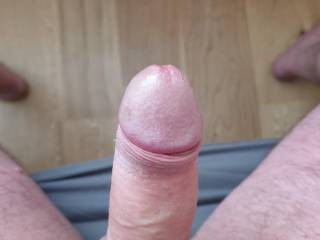 Cock with pre-cum.