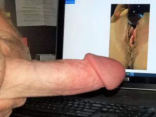 Hard cock watching upnorthcoupel toy her tasty wet pussy!