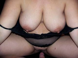 we need a guy that will suck her tits and my cock at the same time
