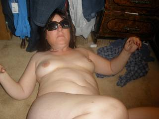 lying on my back with my shades waiting to get laid.......who wants some?....how bout you?