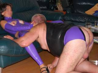 we love latex and hot games in this material