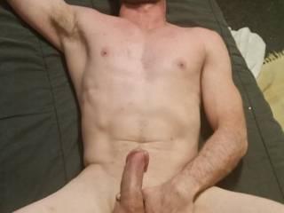 Krysta takes a look at my big headed cock & fat balls