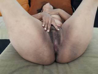 spread pussy, so you can see and taste her..Send us your dirty comments while cumming...!!