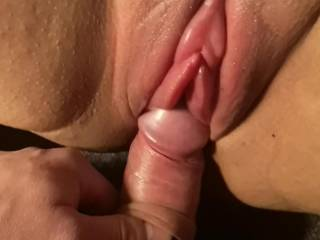 My dick enters her wet and sensitiv pussy