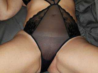 Some new lingerie. How long would you letnit stay on before taking it off and pleasuring me?!