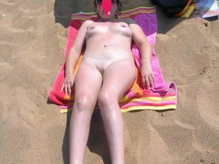 Getting naked on the beech