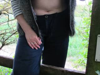 Hmmmmm great tits,I would be a perfect gentleman and help you over (to have a closer look really lol) great pic ;-)