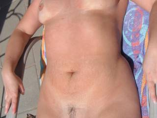 Love the tan lines Beautiful and the little patch of hair!