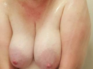 Would you lick, suck, fuck and cum on these big titties for me?