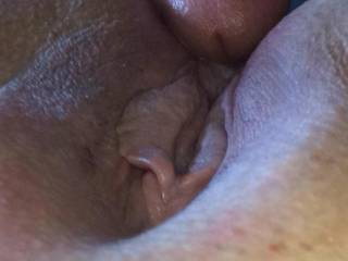 Wife new friend getting ready to slide his cock in her tighy ass