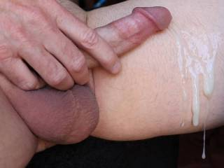 some belly rubbing stimulus to ejaculation