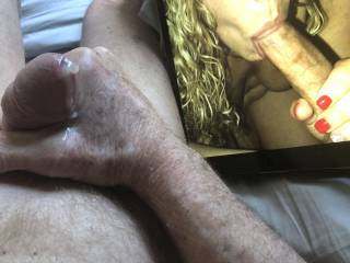 Love watching sexy Blows sucking cock, she made me cum.
