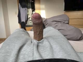 Cock in grey pants 😏
